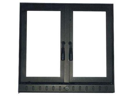Haarddeur recht met openslaande deurtjes - 7411
