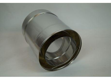 Dubbelwandig rookkanaal RVS, diameter Ø100-150, 250mm pijp - 7872