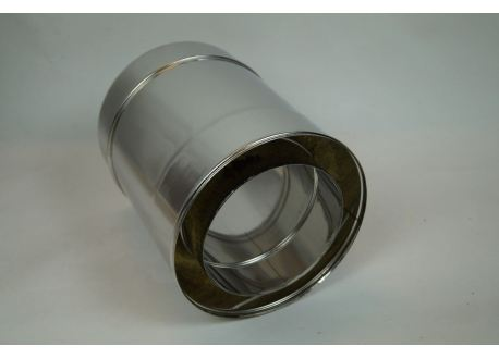 Dubbelwandig rookkanaal RVS, diameter Ø150-200, 250mm pijp - 7880