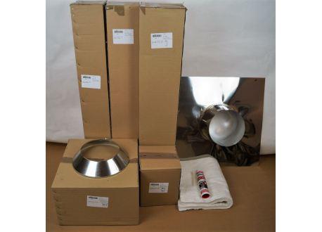 Compleet kachelpijp aansluitset voor buitenverblijf, schuur of veranda Ø200mm - 8341