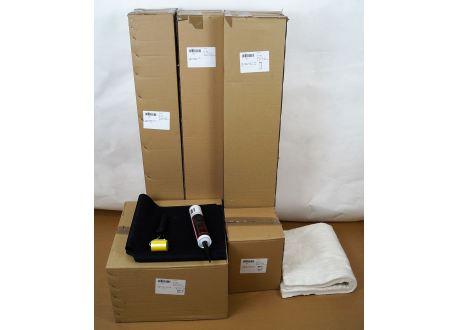 Compleet rookkanaal set Ø130mm, plat/hellend of schuin EPDM/kunststof dak - 8357