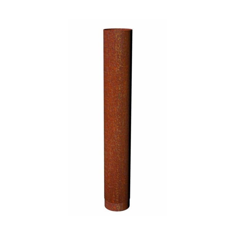 Kachelpijp Cortenstaal, diameter Ø200, 1000mm pijp - 8877