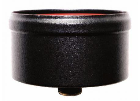 Condensatie cap zwart met afvoer, diameter Ø100mm.