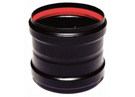 Verbindingsstuk zwart (vrouwelijk-vrouwelijk), diameter Ø80mm - 925