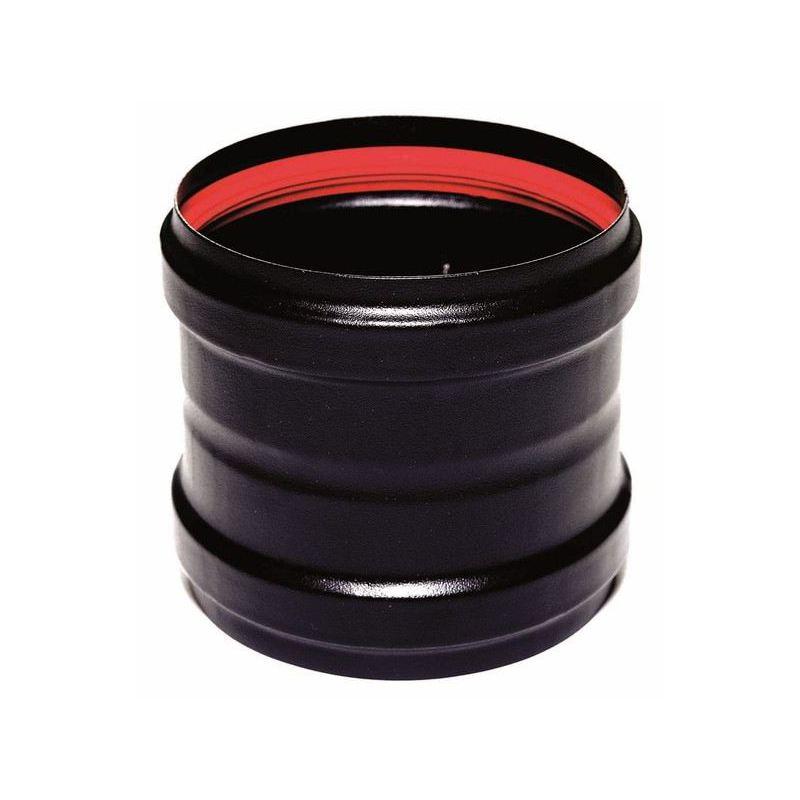 Verbindingsstuk zwart (vrouwelijk-vrouwelijk), diameter Ø100mm.