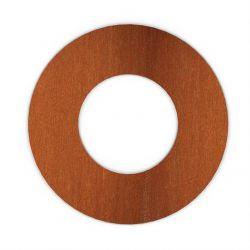 Kachelpijp Cortenstaal, diameter Ø150, Rozet met spanveren