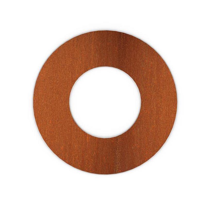 Kachelpijp Cortenstaal, diameter Ø150, Rozet met spanveren - 9330