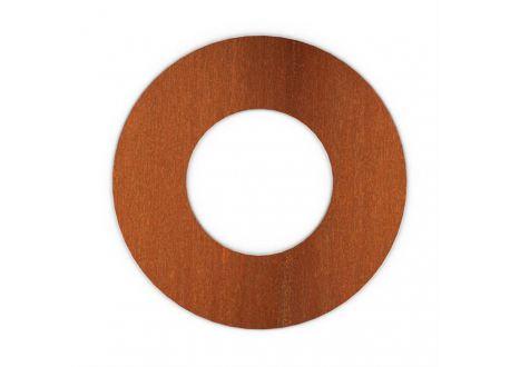 Kachelpijp Cortenstaal, diameter Ø200, Rozet met spanveren - 9332