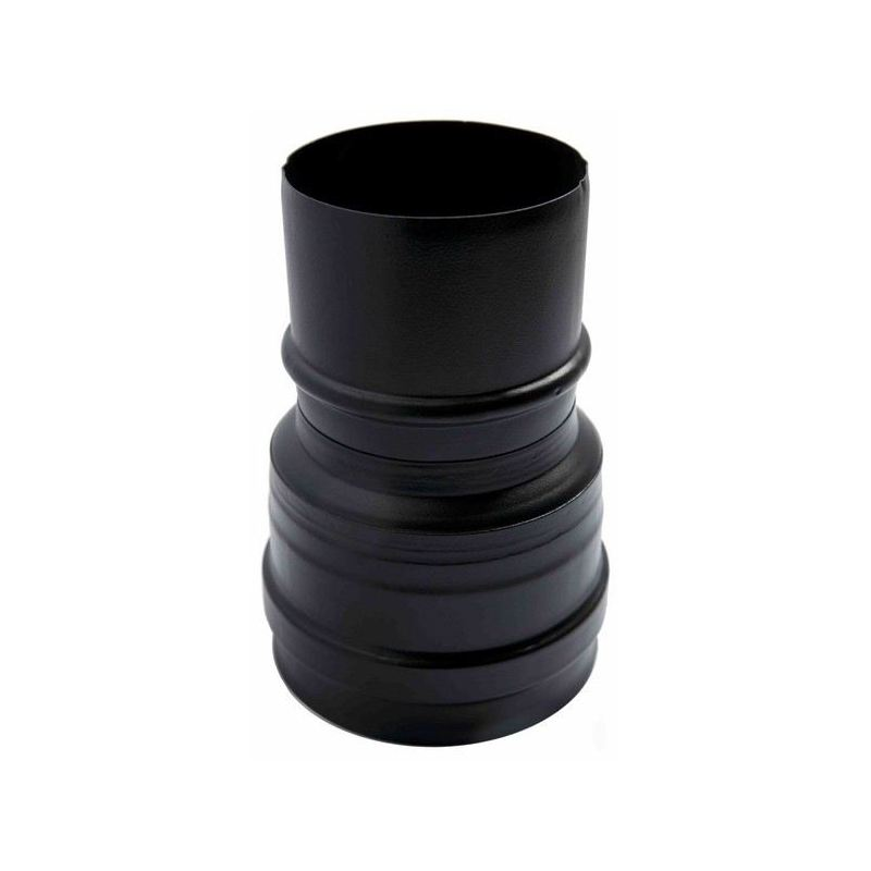 Verloopstuk zwart Ø120mm (mannelijk)Ø80mm. (mannelijk) - 948