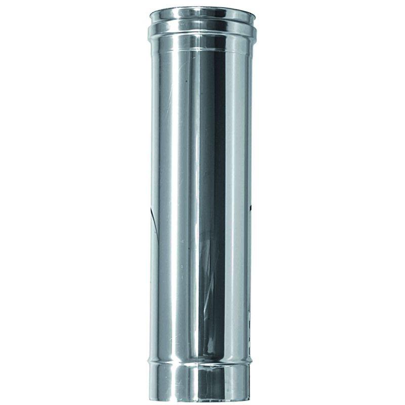 Enkelwandig rookkanaal RVS, diameter Ø100, 250mm pijp