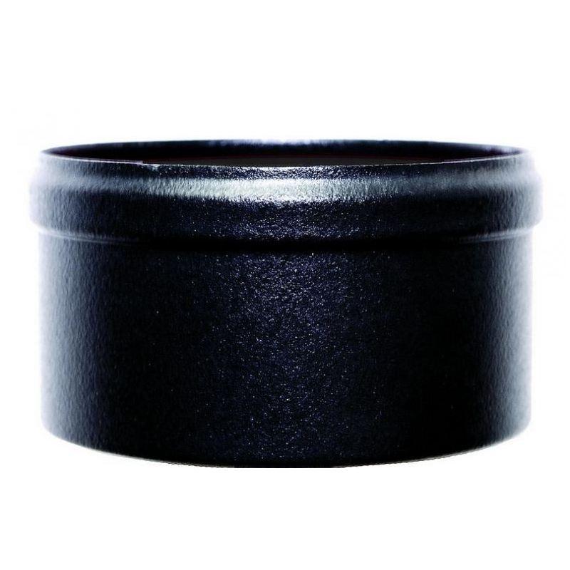 Condensatie cap zwart metaal, diameter Ø80mm. - 9841
