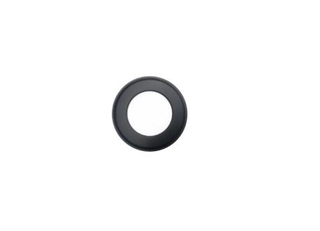 Kachelpijp zwart RVS, rozet, diameter Ø120 - 9843