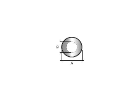 Kachelpijp zwart RVS, rozet, diameter Ø130 - 9845