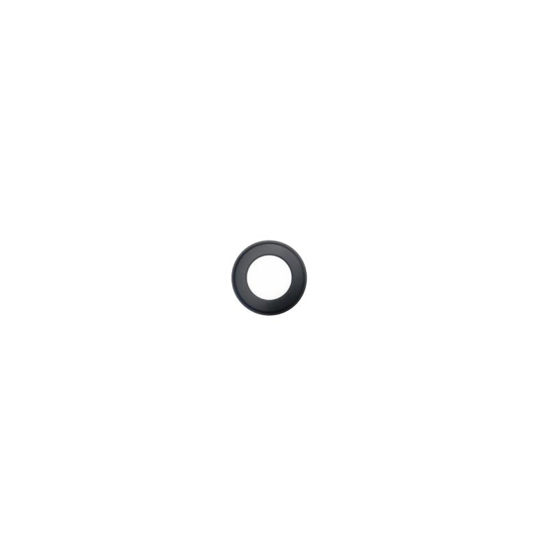 Kachelpijp zwart RVS, rozet, diameter Ø130 - 9846