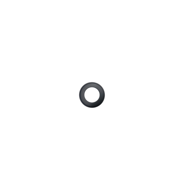 Kachelpijp zwart RVS, rozet, diameter Ø140 - 9847