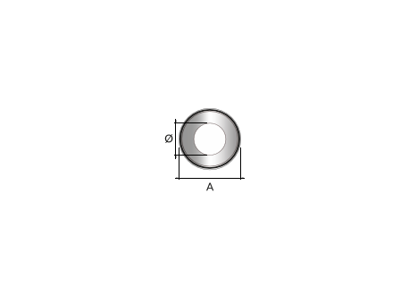 Kachelpijp zwart RVS, rozet, diameter Ø140 - 9848