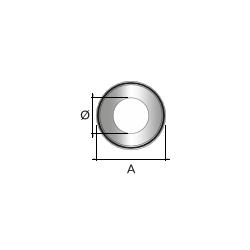 Kachelpijp zwart RVS, rozet, diameter Ø150 - 9850
