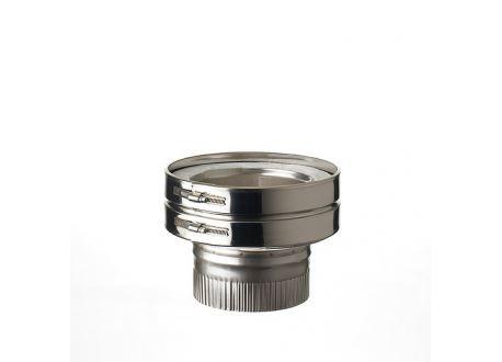 ISODUCT, DUBBELWANDIG ROOKKANAAL RVS, diameter Ø150/220 AANSLUITSTUK DUBBELWANDIGENKELWANDIG (MANNELIJK). - 9863