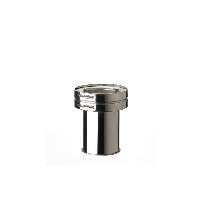 ISODUCT, DUBBELWANDIG ROOKKANAAL RVS, diameter Ø150/220 AANSLUITSTUK MET NISBUS - 9889